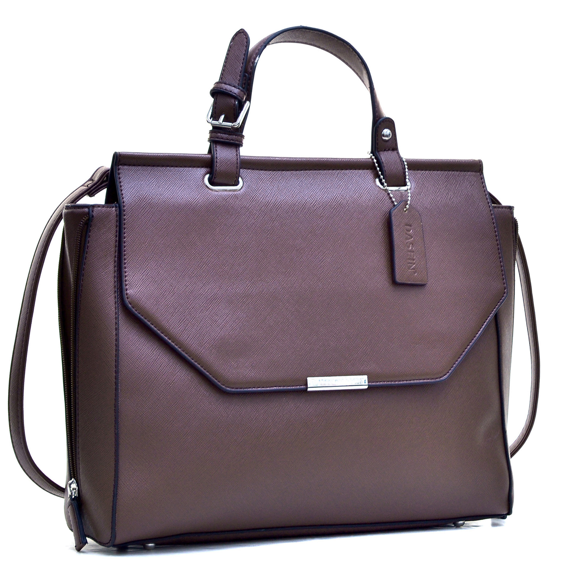 Dasein® Briefcase Satchel with Expandable Zipper Sides