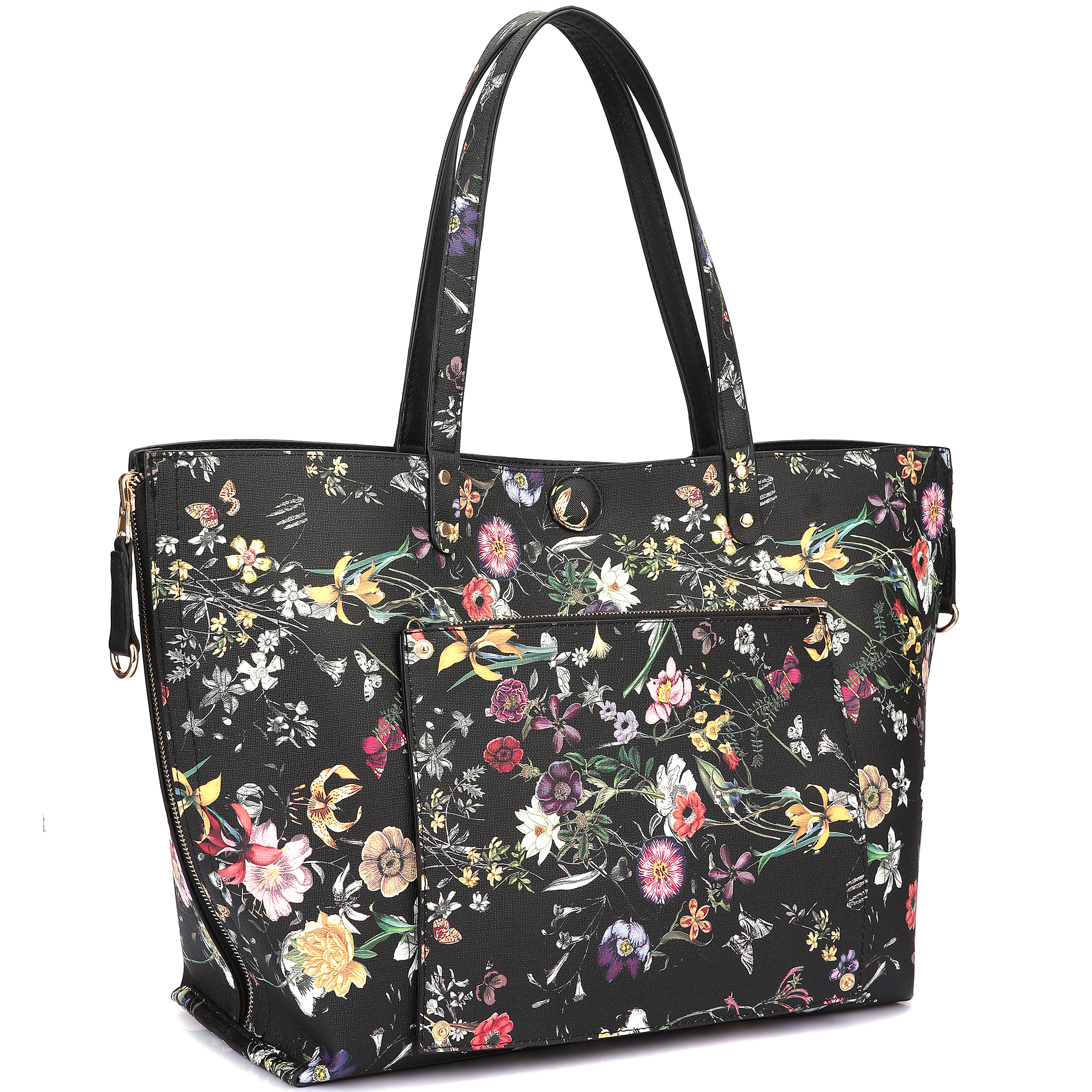 Floral Reversible Tote Bag