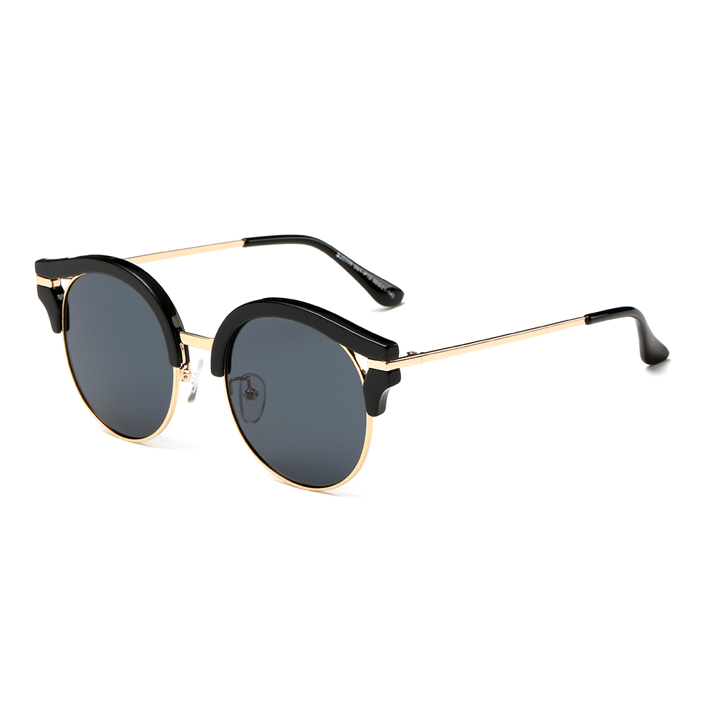 Polarized Wayfarer Mirrored Unisex Sunglasses with Slim Arms