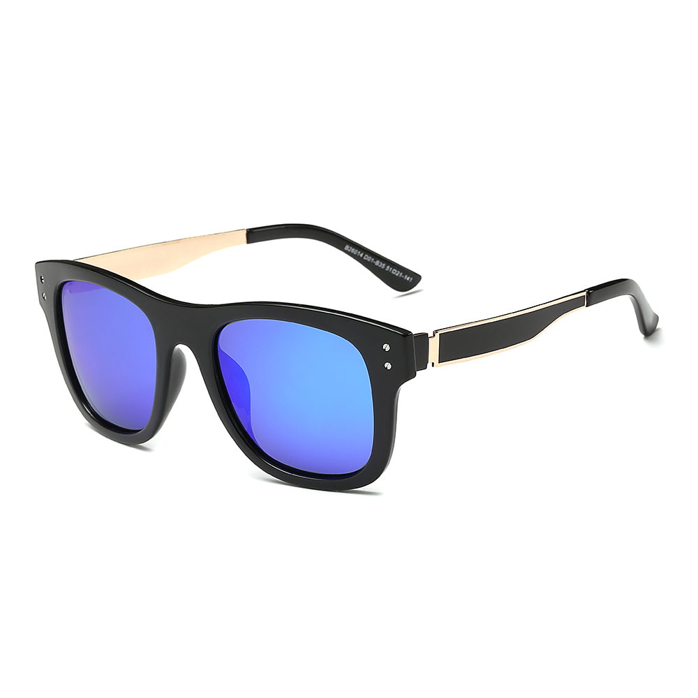 Square Sunglasses with thick Metal Arms