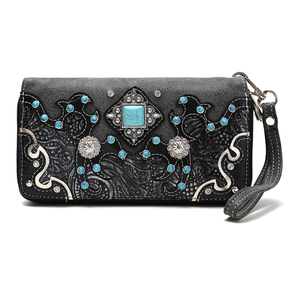 Turquoise Concho Wallet
