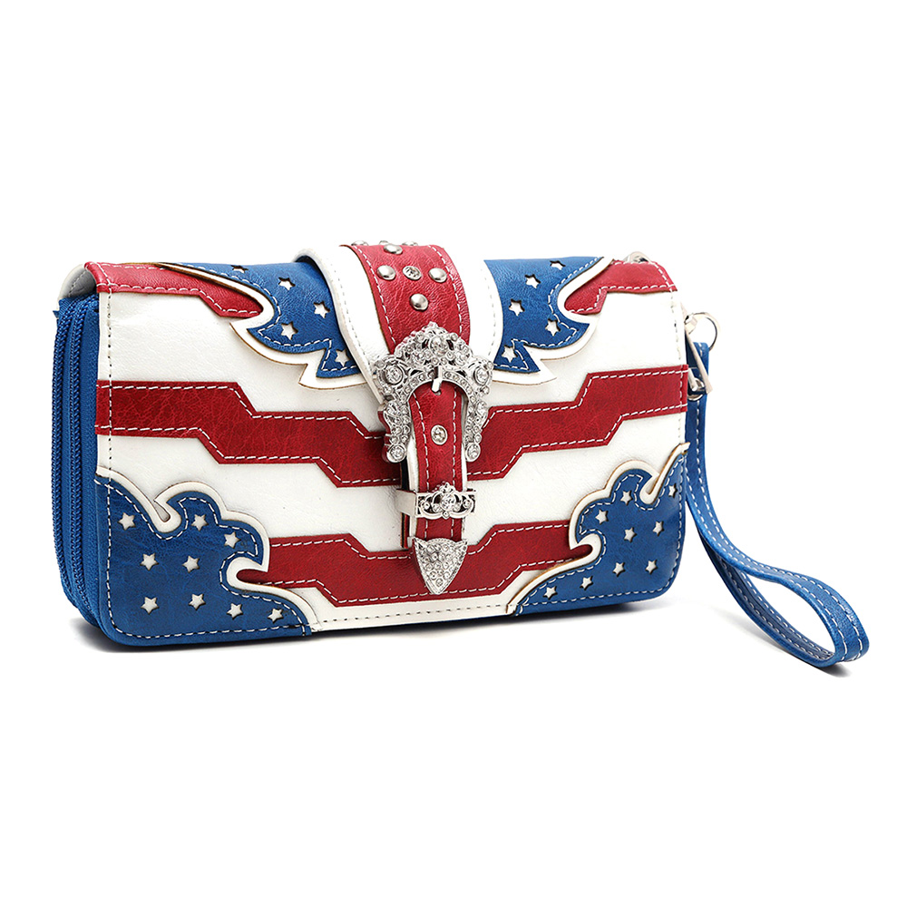American Flag Buckle Wallet