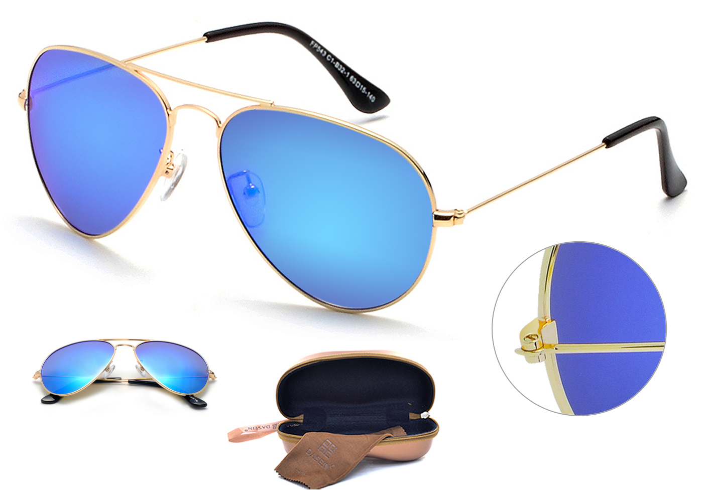 Polarized Mirrored Matte Classic Aviator Sunglasses