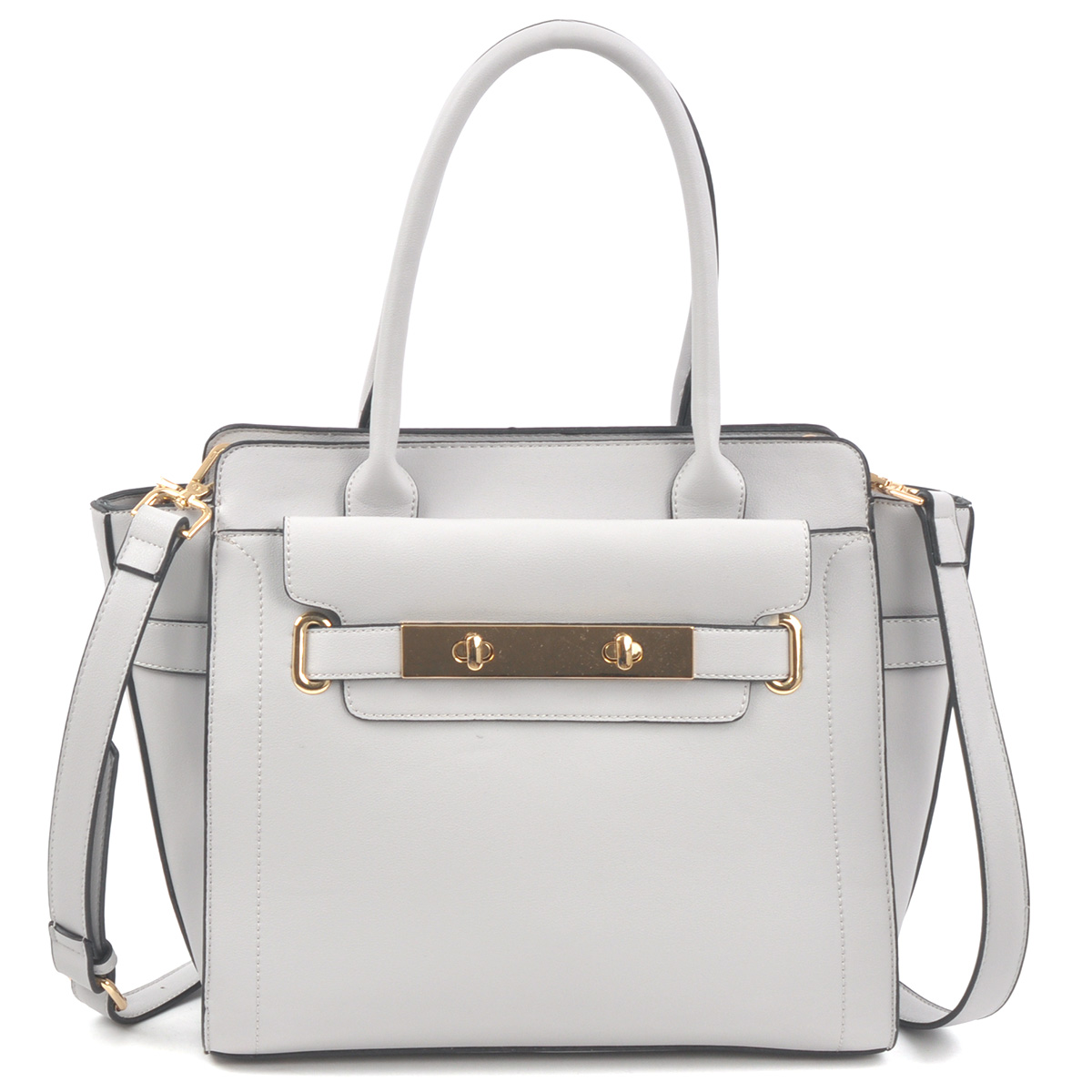Dasein Soft Faux Leather Work Satchel