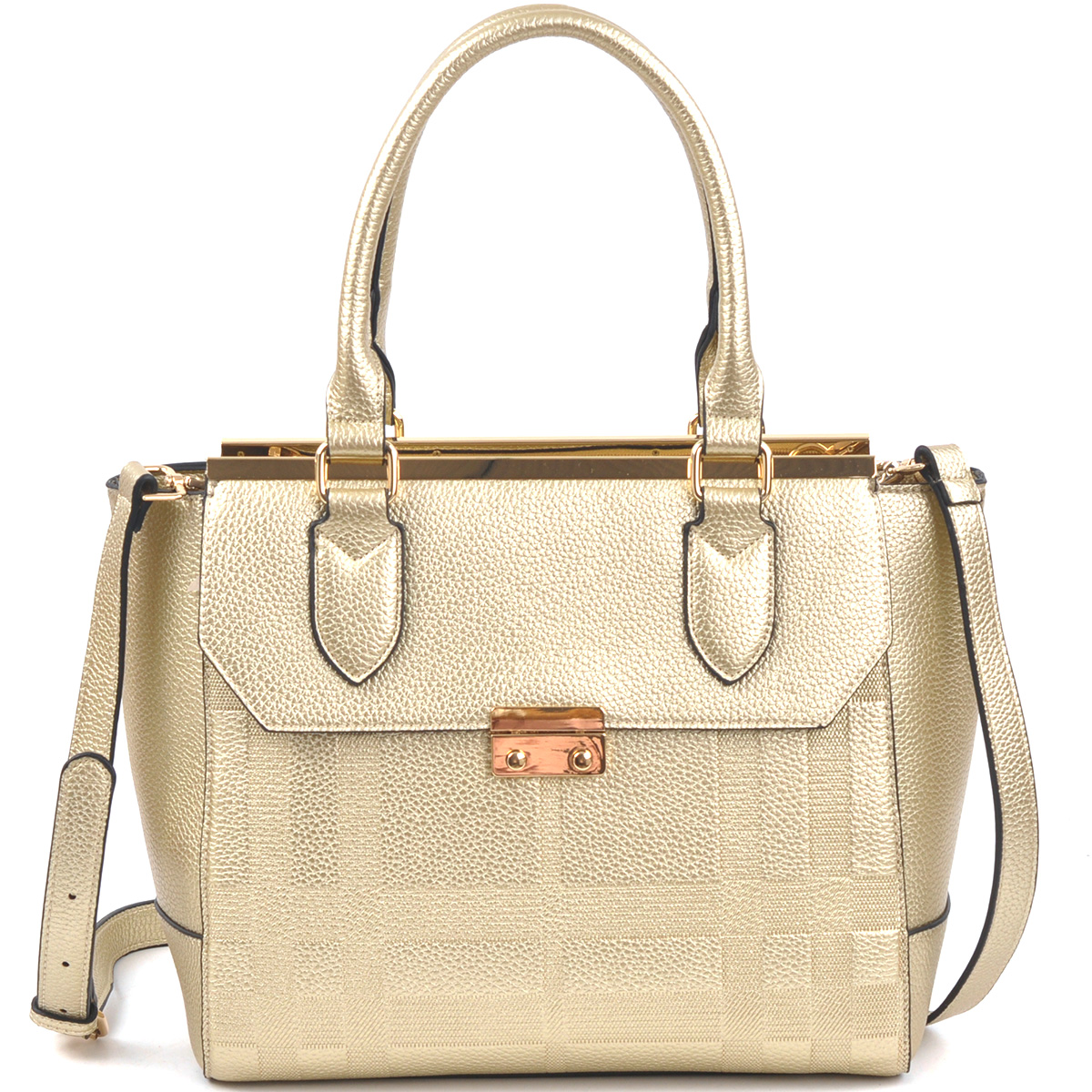 Fashion Satchel with Shoulder Strap