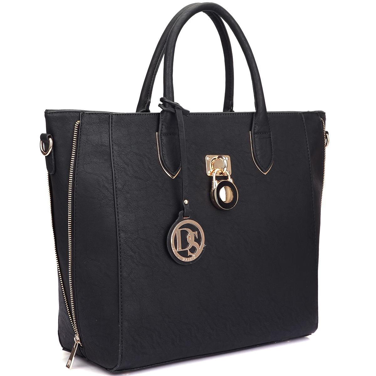 Dasein Faux Leather Medium Tote