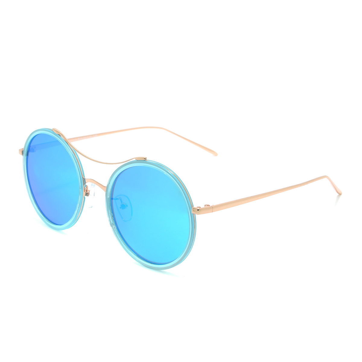 Dasein Round Sunglasses with Metal Arms