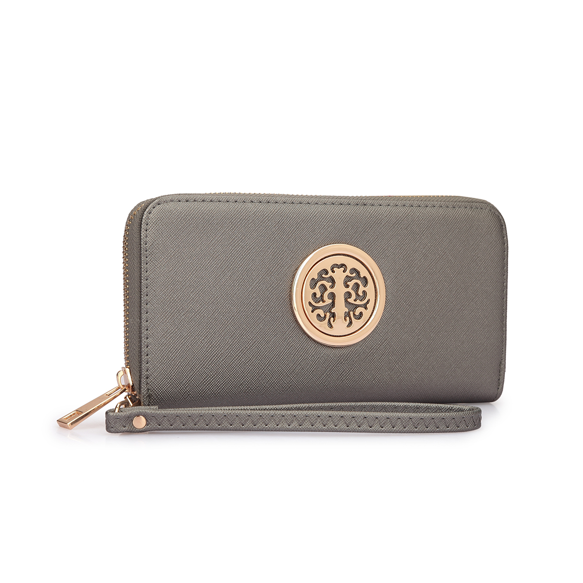 Zip Around Emblem Wallet