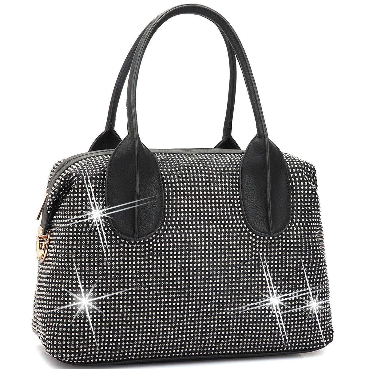 Dasein® Faux Leather Rhinestone Studded Bag