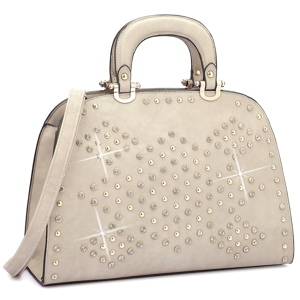 Women-Trendy-Rhinestone and studs-Satchel