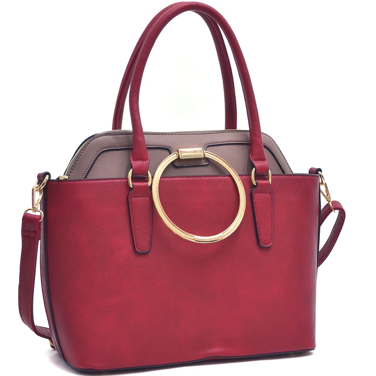 Dasein 2 in 1 Faux Leather Bag. Combination of Satchel and Tote