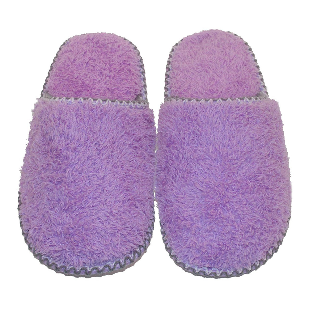 Women's Cozy Fabric Plush Fleece Lined Slip on Clog House Slippers