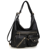 Dasein Soft Faux Leather Shoulder Bag and Backpack
