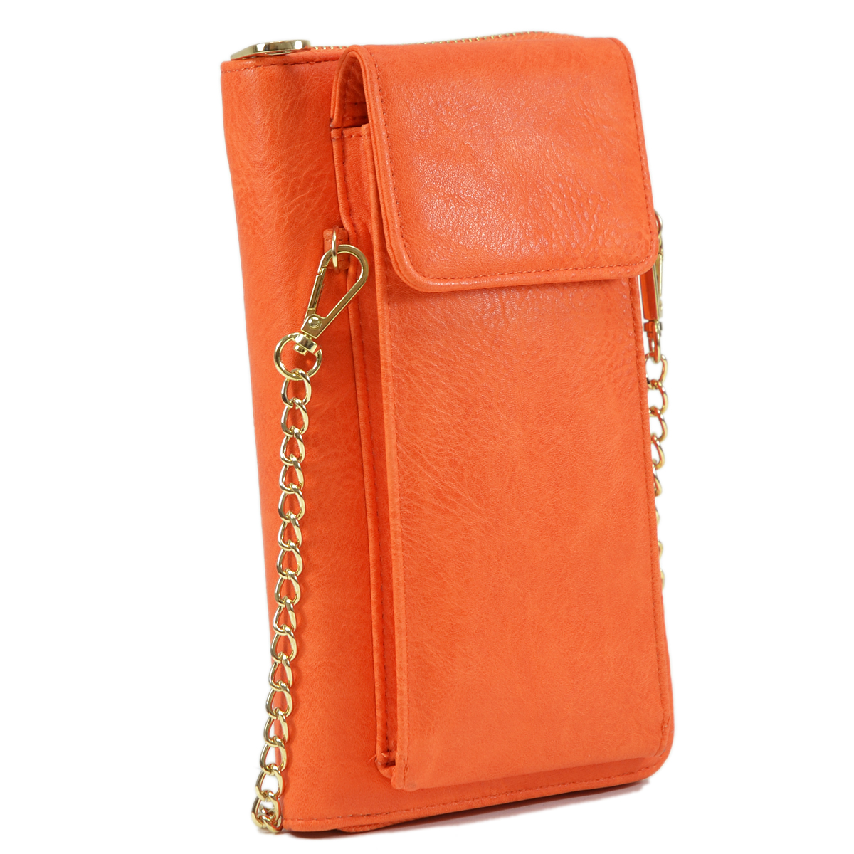 All-In-One Crossbody Wallet with Phone case and Detachable Chain Strap