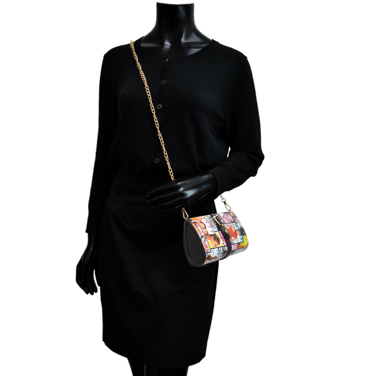 Magazine Clutch with Detachable Chain Strap