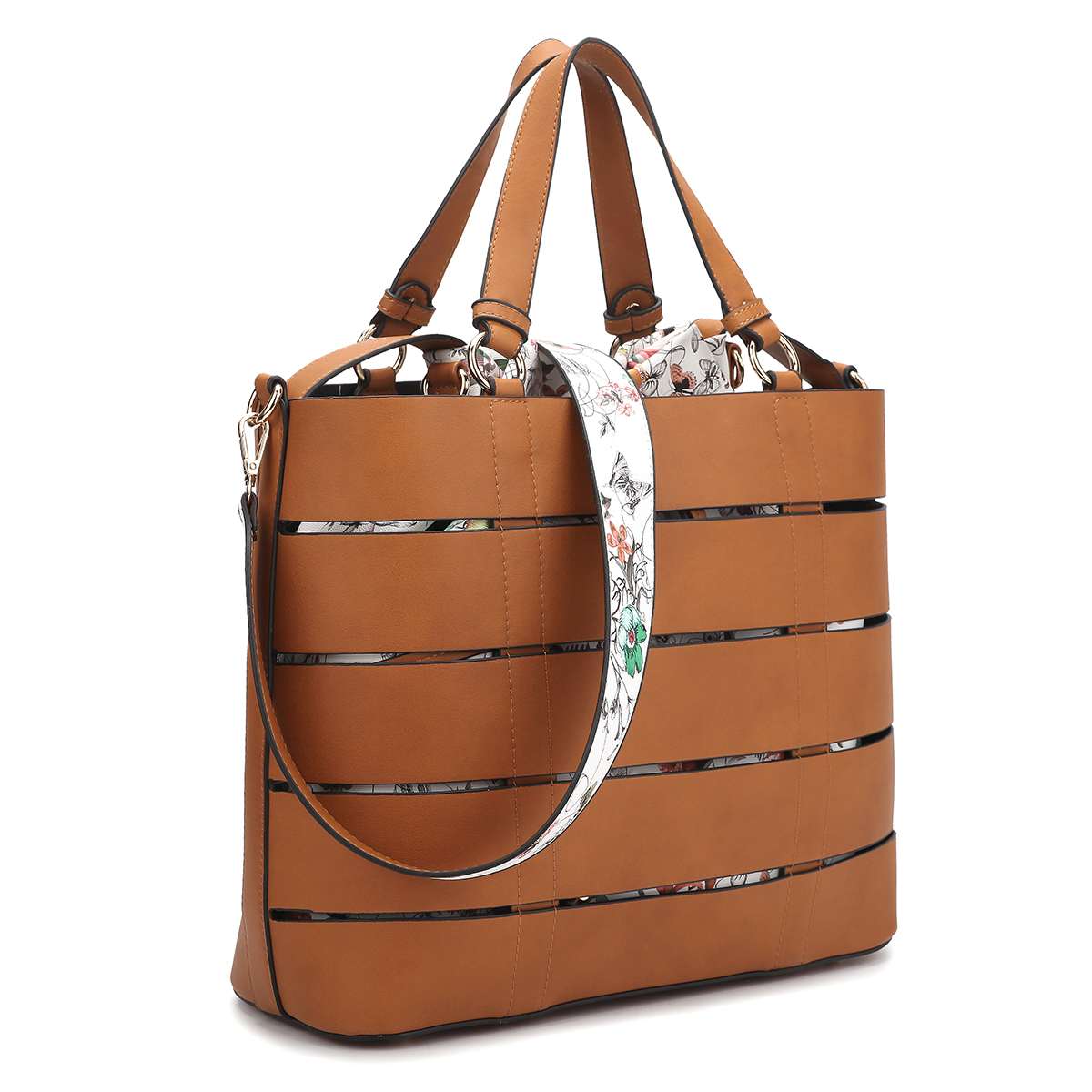 Dasein Two-in-One Faux Leather Medium Tote