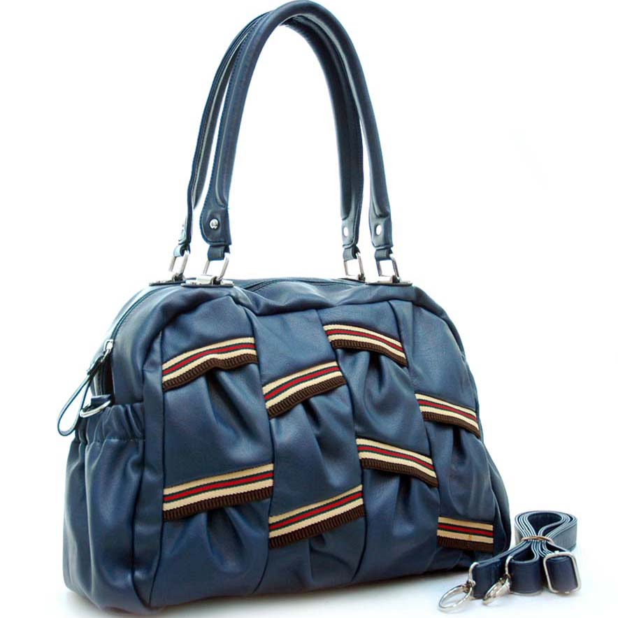 Dasein Multi Color Stripe Shoulder Bag with Removal Shoulder Strap
