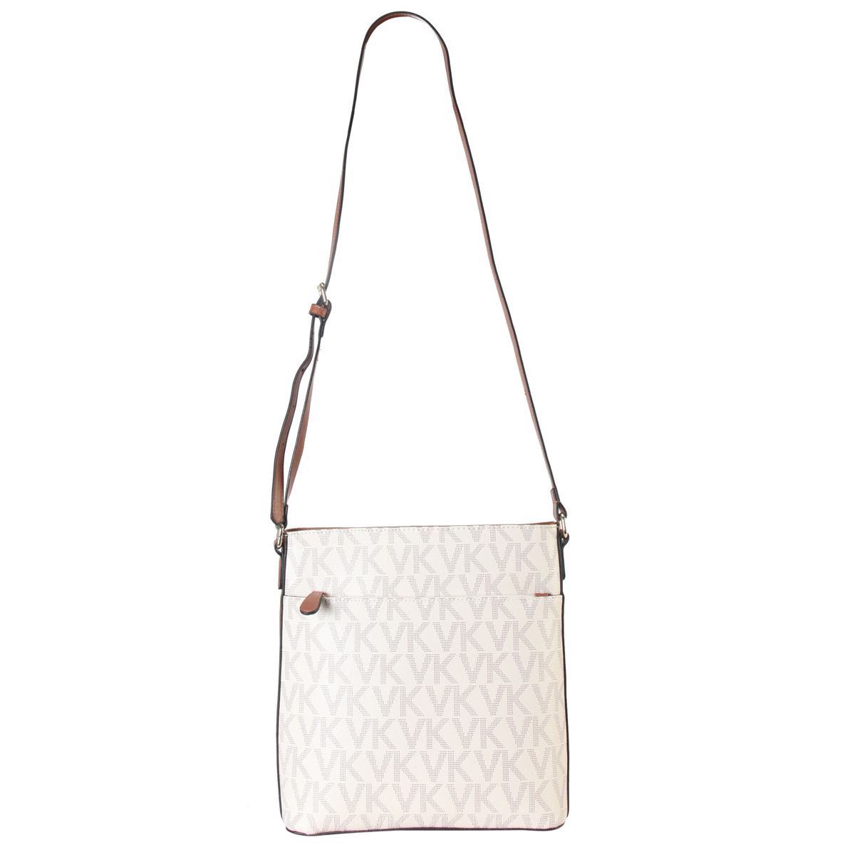 Monogram imprint Messenger/Crossbody Bag
