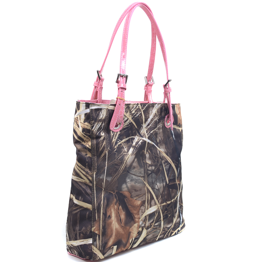 Realtree® Classic Square Camouflage Tote Bag with Belted Straps