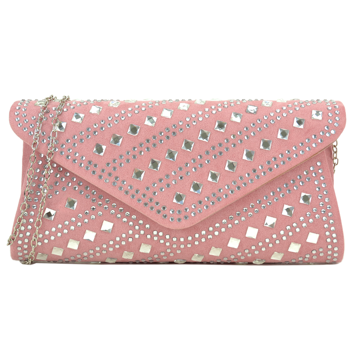Rectangular Studded Rhinestone evening purse