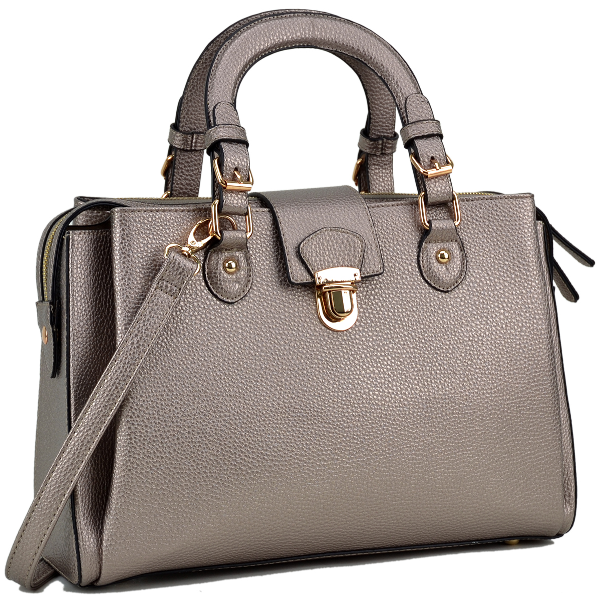 DaseinSatchel with Front Snap Lock Accent