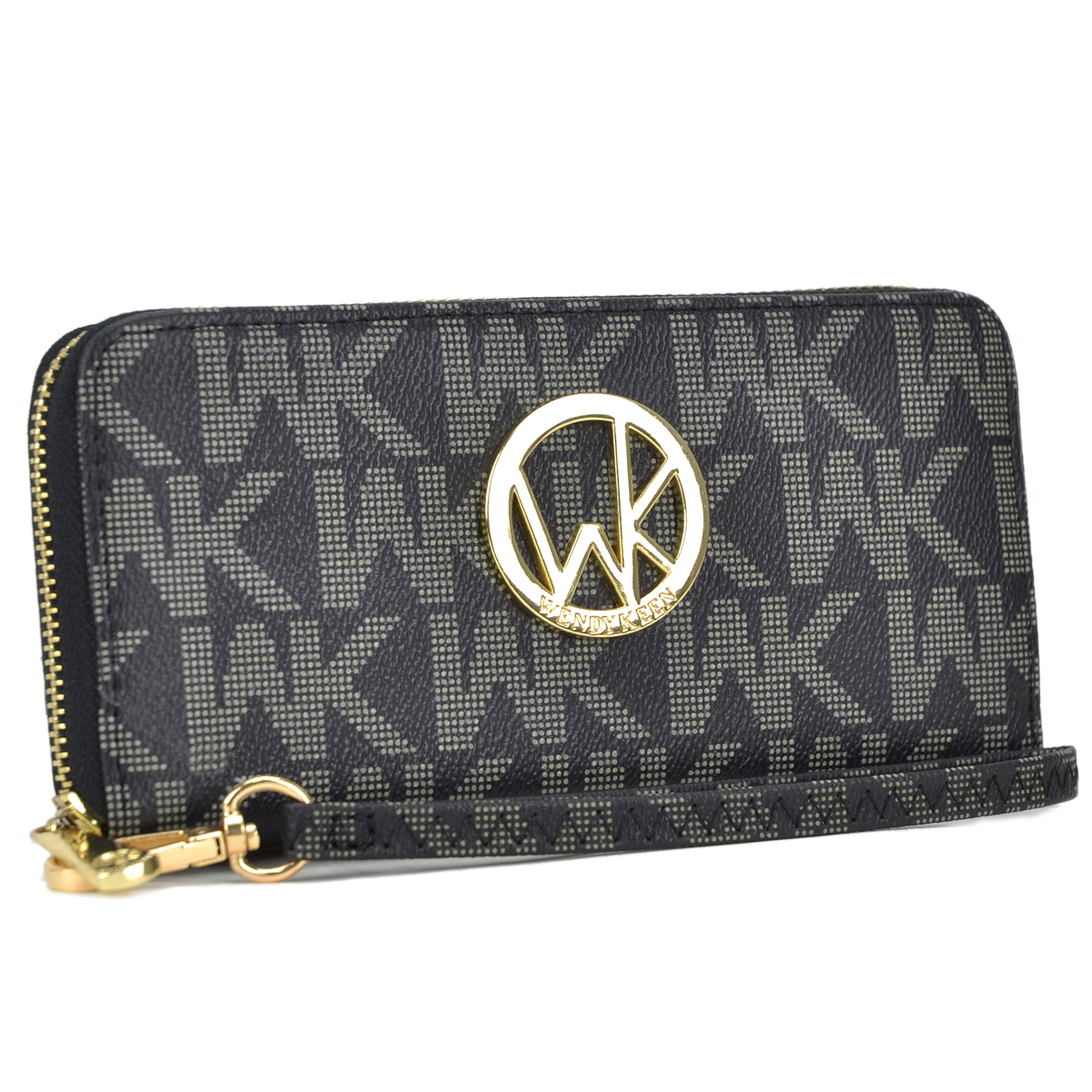 Wendy Keen Monogram Logo  layer Zip Around Wallet