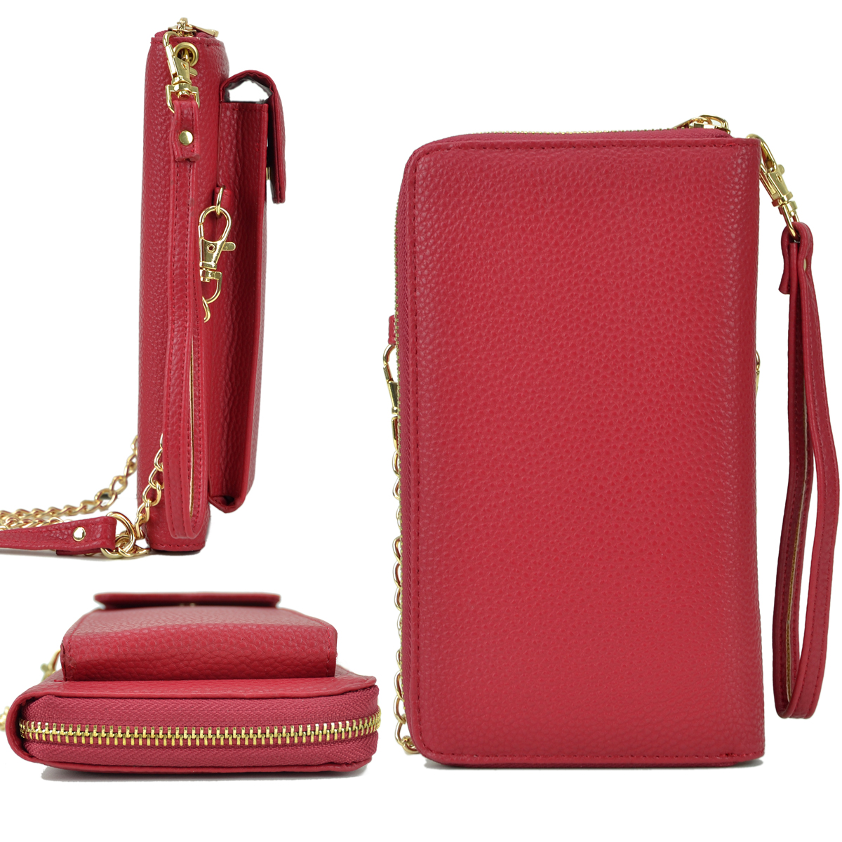All-In-One Crossbody Wallet, Wristlet, with Phone case and Detachable Chain Strap