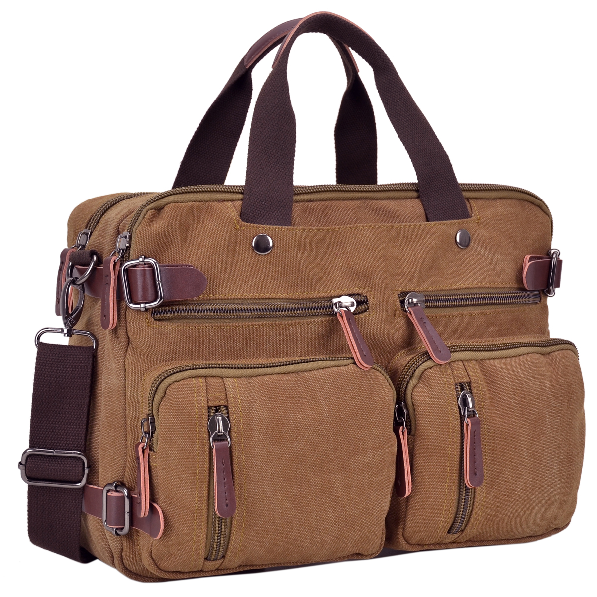 Dasein Vintage Unisex Canvas Multi-purpose Bag- Backpack, Briefcase, Rucksack, Messenger Bag