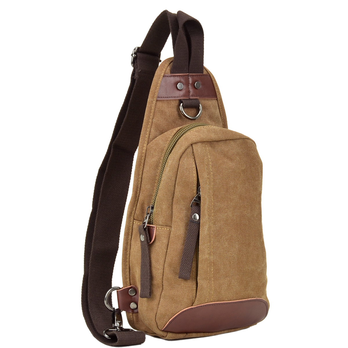 Dasein Vintage Canvas Messenger/ Cross body Bag/ Sling Pack/ Chest bag for Men