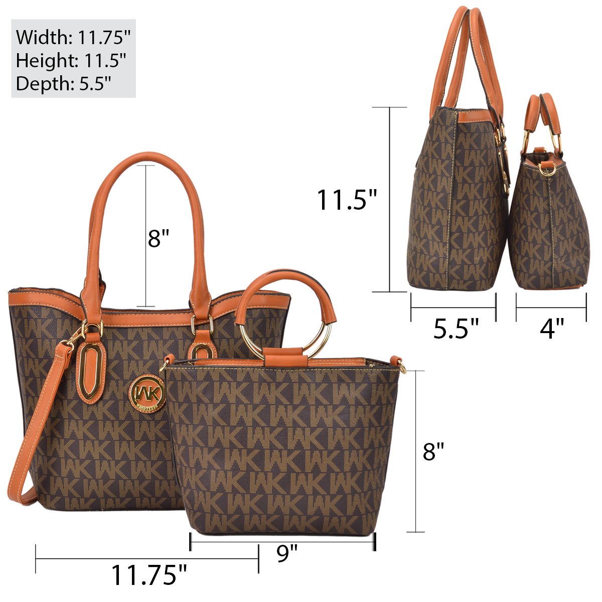Wendy Keen Two-in-One Monogram Medium Tote