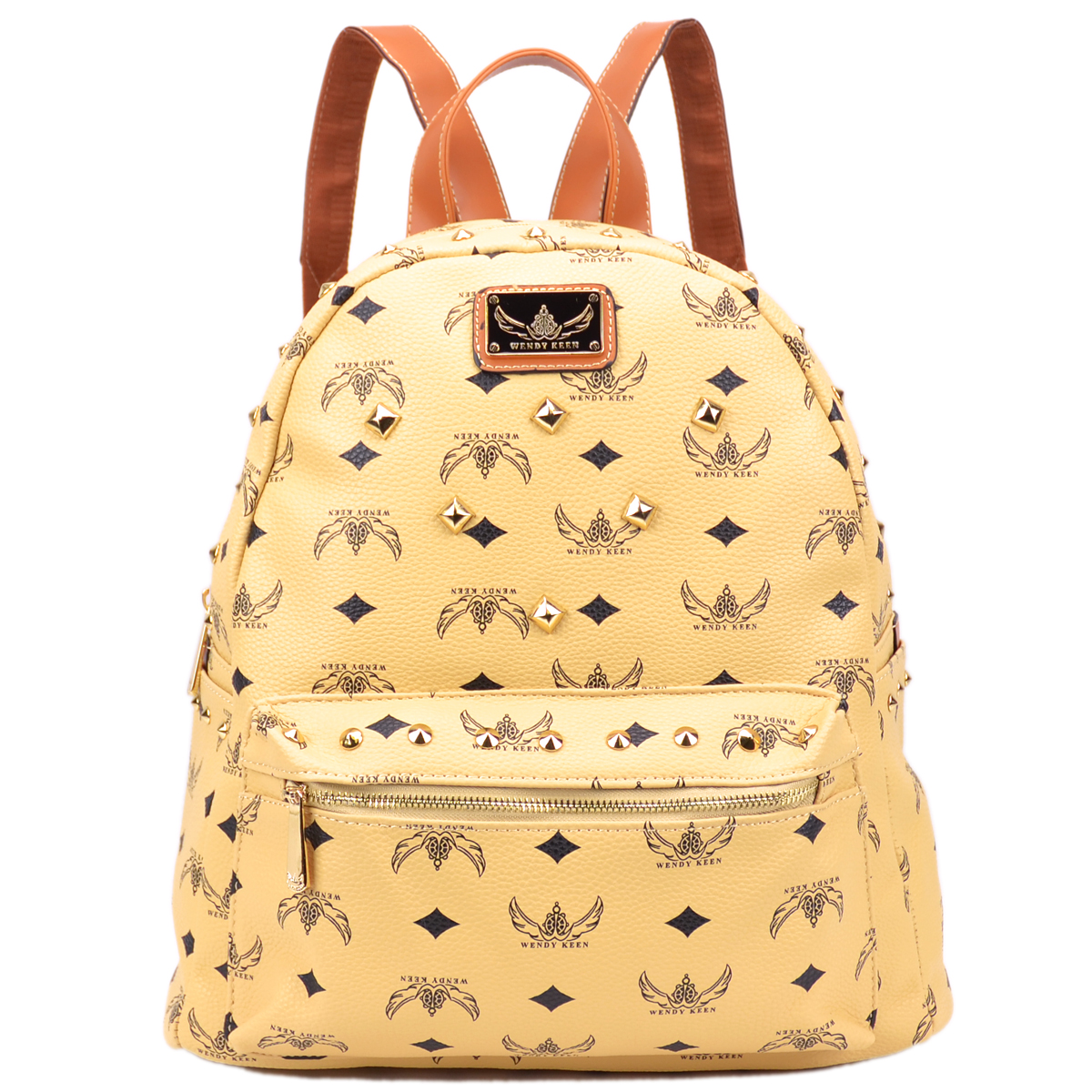 Wendy Keen Monogram Studded Backpack