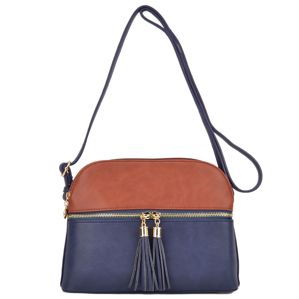 All-In-One Crossbody/ Messenger Bag with Decorative Tassel