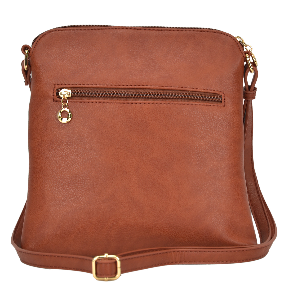 All-In-One Crossbody/ Messenger Bag with Front Decorative Tassel Zipper Pull