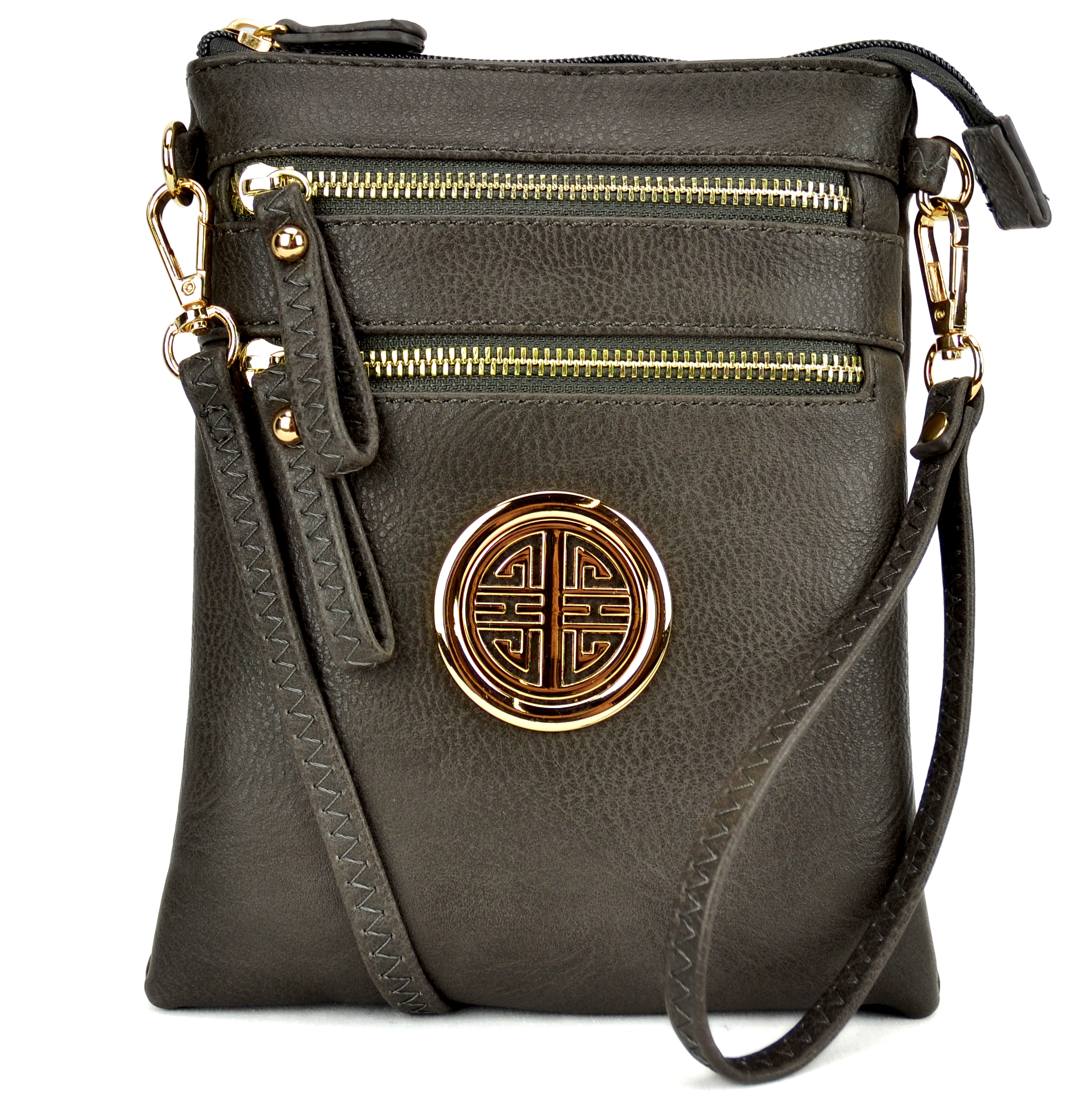 All-In-One Soft Faux Leather Crossbody/ Messenger Bag