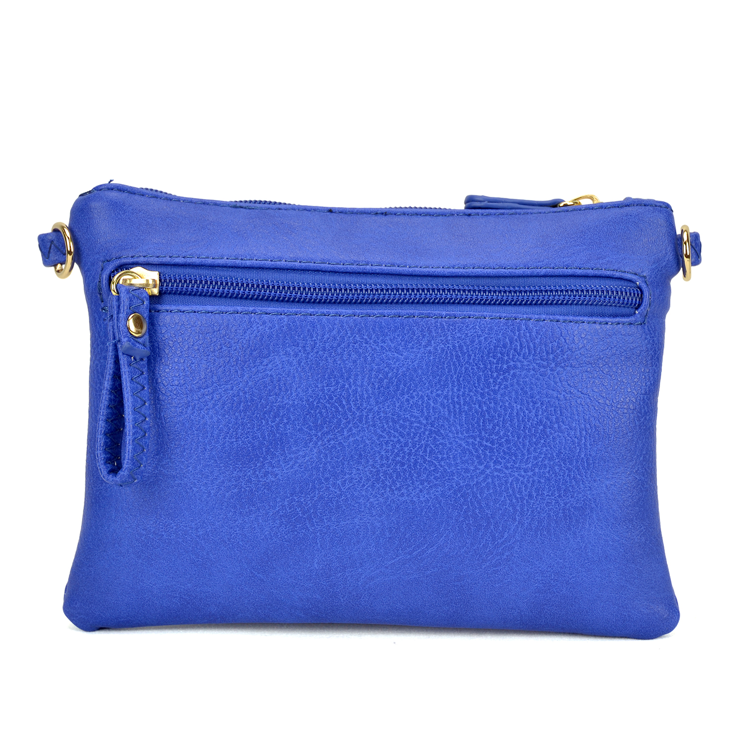 All-In-One Soft Faux Leather Crossbody/ Messenger Clutch Bag /Wristlet
