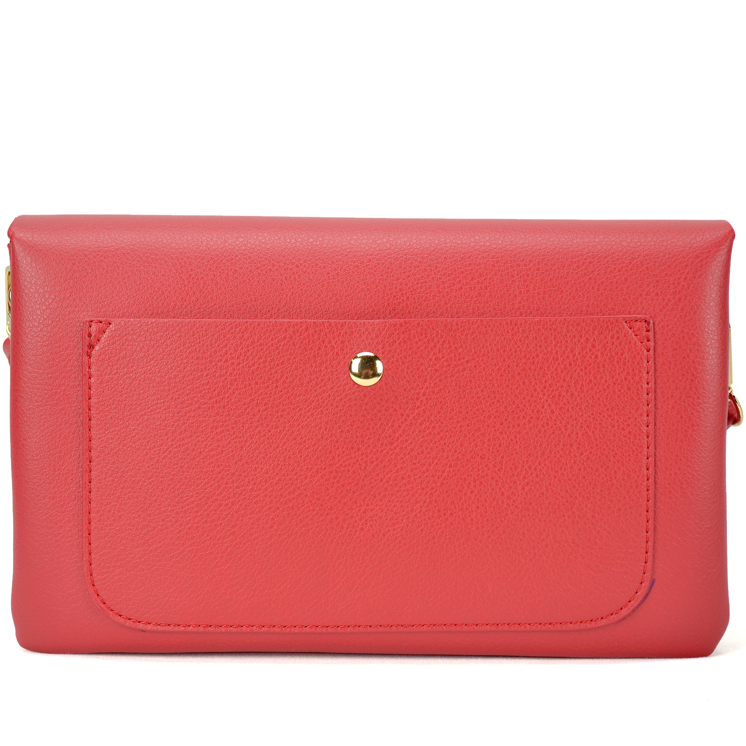 All-In-One Crossbody/ Messenger Clutch Bag with Front Button Snap