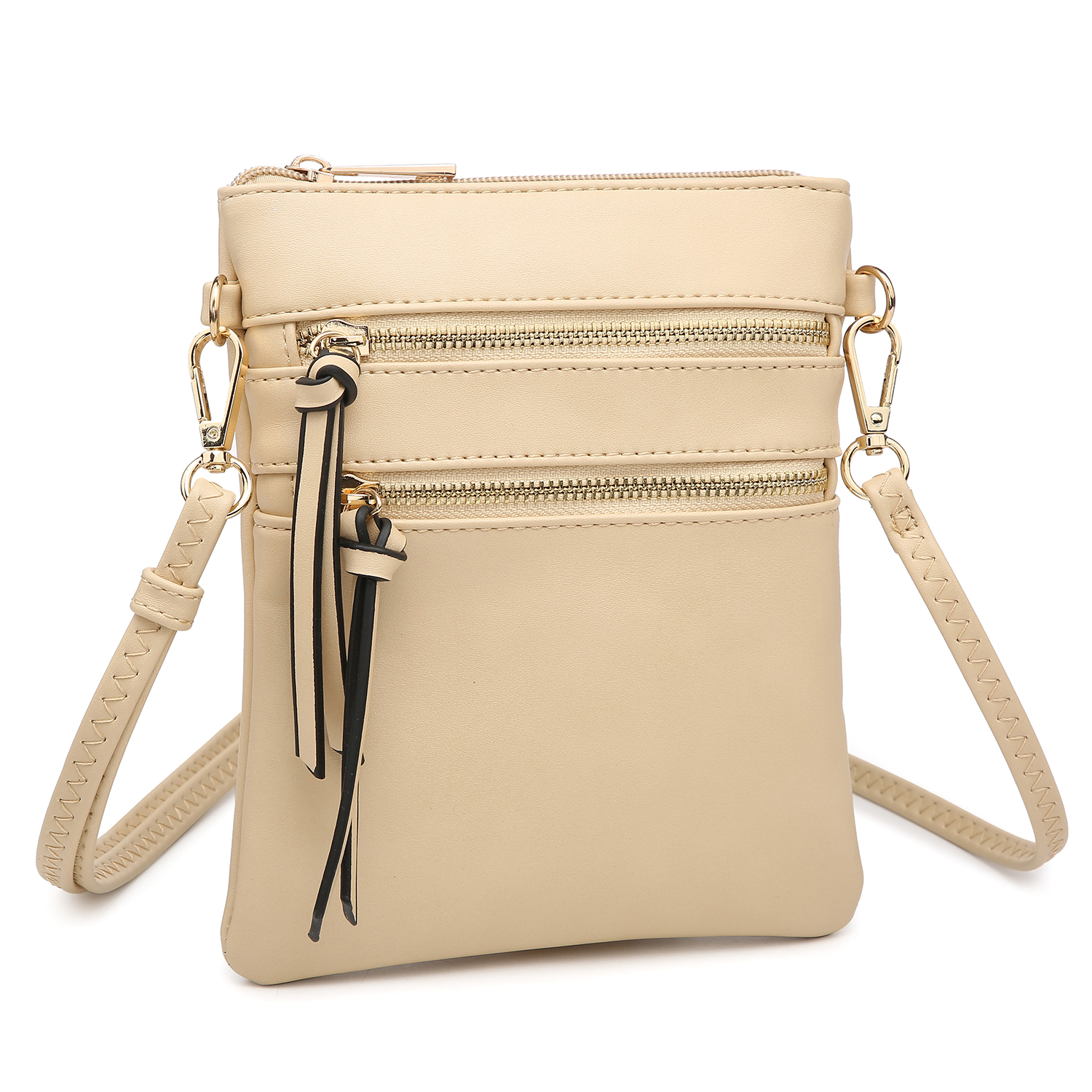 Gold-Tone Messenger Bag