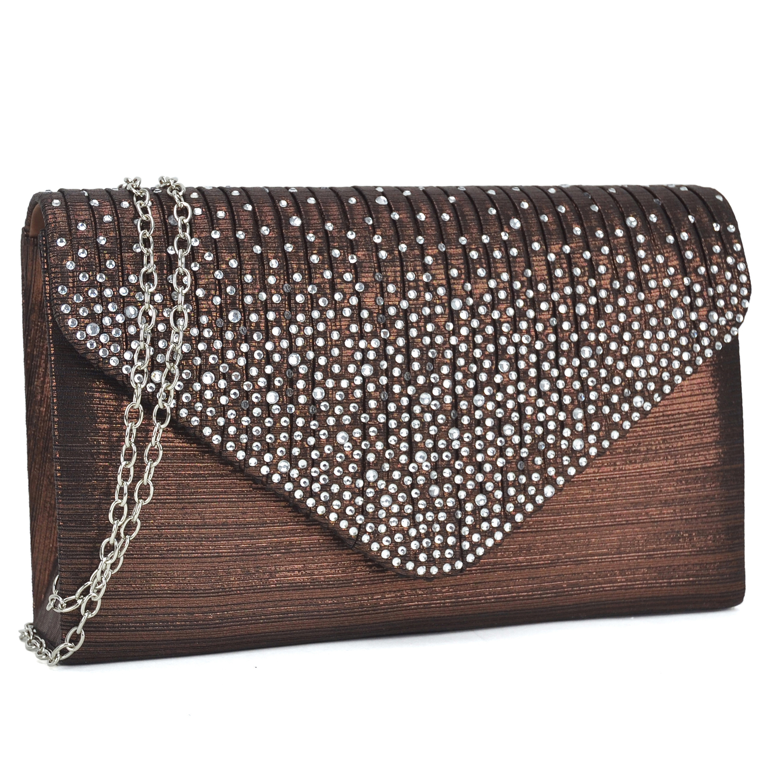 Dasein® Rhinestone Frosted Evening Clutch