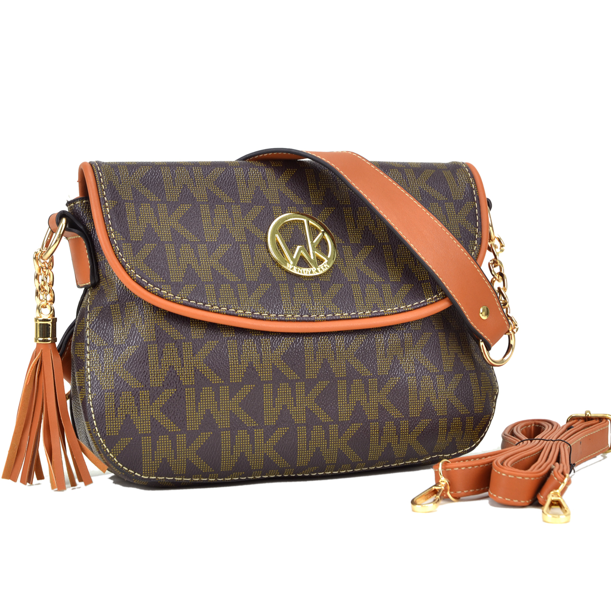 Signature Monogram Front Flap Messenger Bag