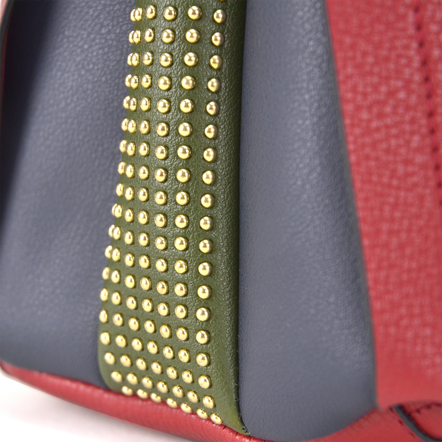 Faux Leather Hobo Bag with 2-D color Studs design on both sides