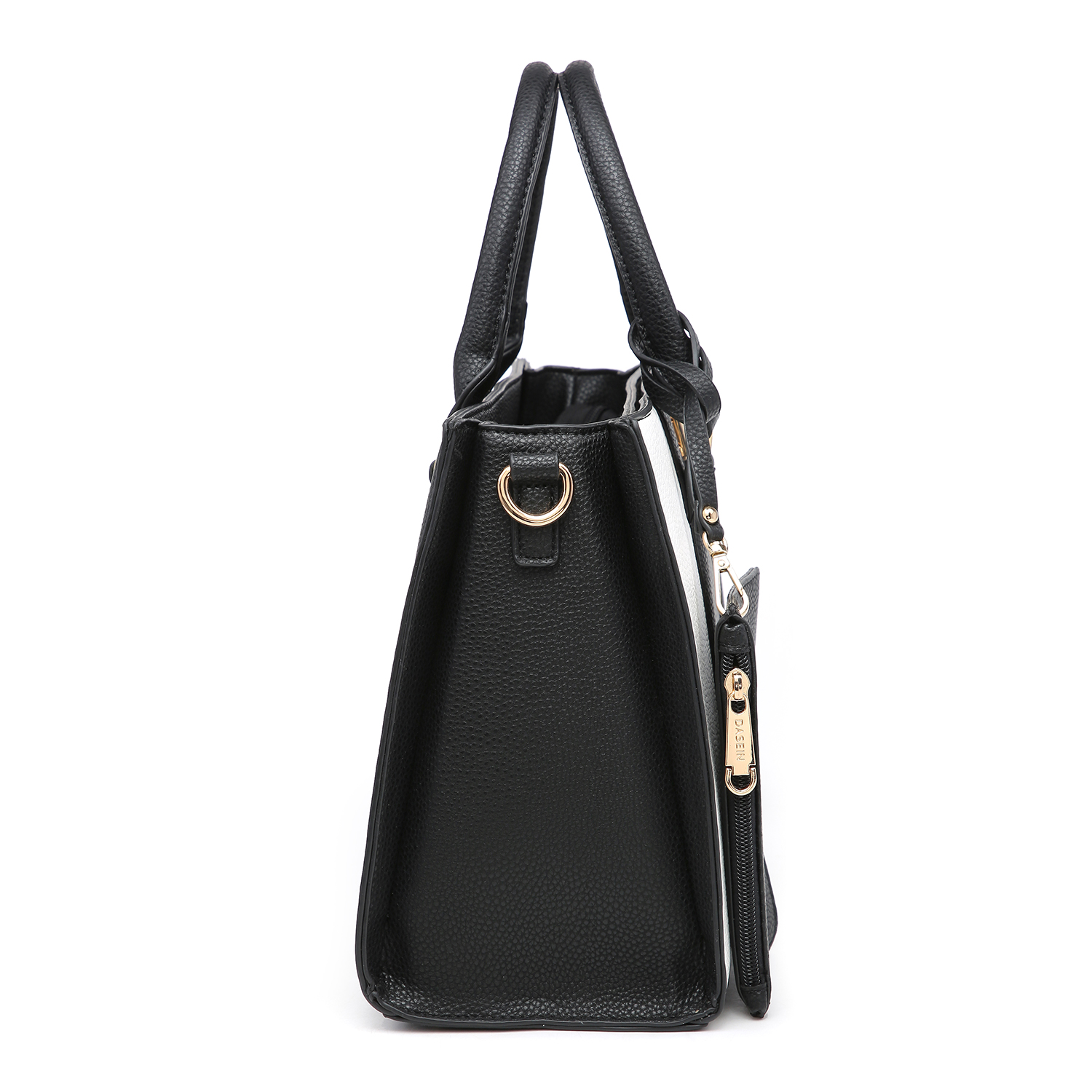 3-in-1 Dasein two tone Medium Satchel with Matching wallet and Wristlet