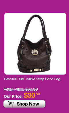 Dasein® Dual Double Strap Hobo Bag