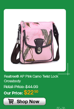 Realtree® AP Pink Camo Twist Lock Crossbody